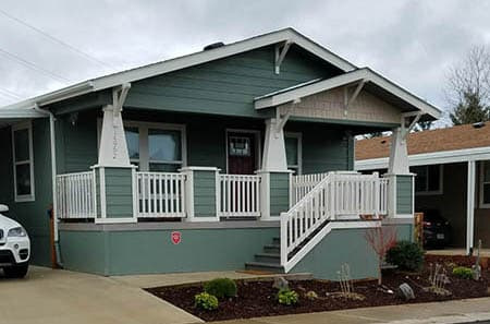 New Manufactured home with large patio and carport in a nice community